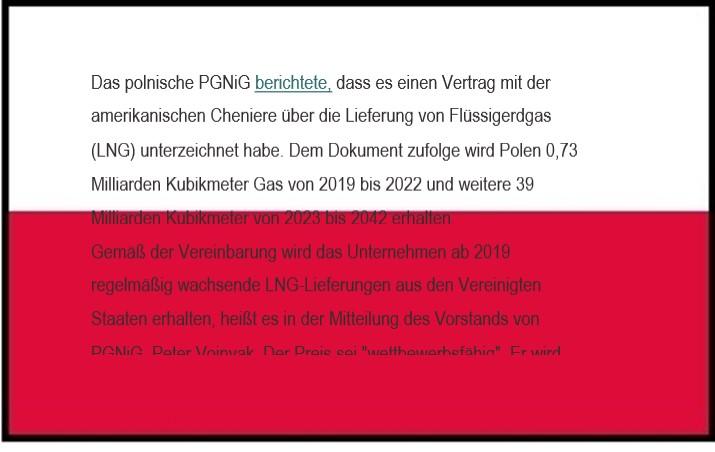 Polen hat 24-jährigen LNG-Liefervertrag mit den USA unterzeichnet