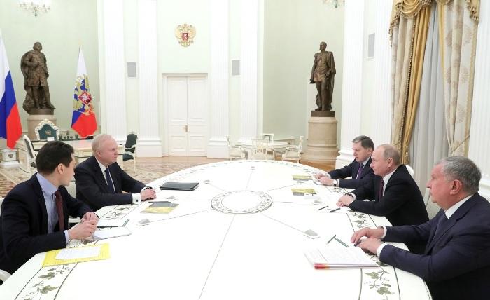 CEO von BP bei Putin