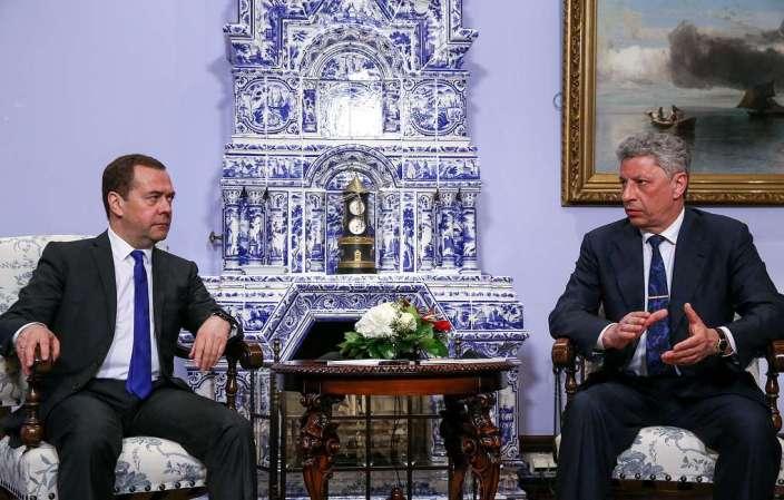 Medwedew diskutiert mit Bojko und Medwedtschuk Gaskooperation zwischen Russland und Ukraine