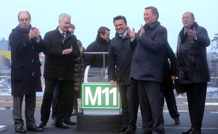 Eröffnung Mautstraße Moskau – St. Petersburg 29. September 2019