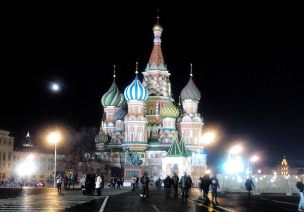 Earth Hour-Kampagne im Moskauer Raum