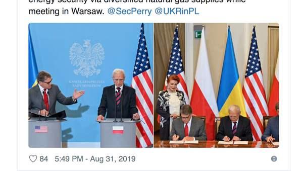 Polen, USA und Ukraine unterzeichnen Sicherheitsabkommen für Gasversorgung