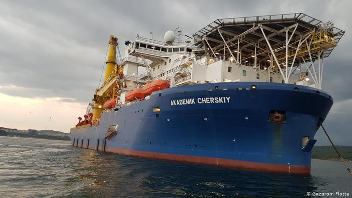 """Rohrverlegeschiff """"Akademik Tscherski"""" nimmt den Bau von Nord Stream 2 auf"""