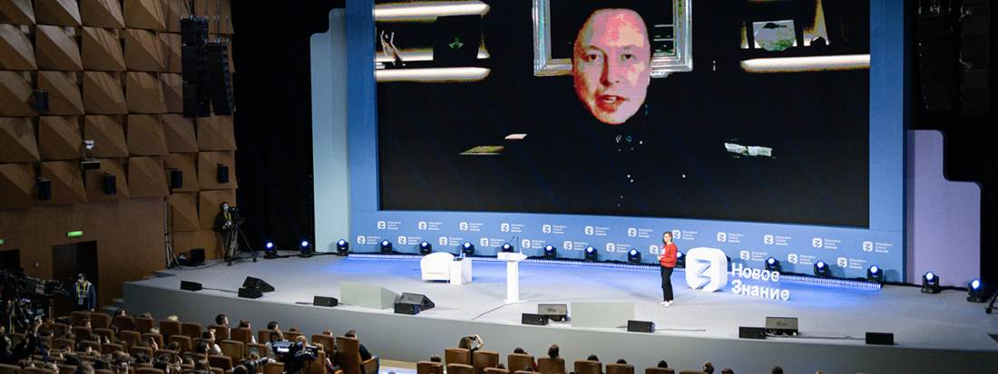 Marathon des Wissens: Elon Musk elektrisiert Top-Forum in Moskau